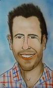 Caricature Drawings Posters - Adam Levine Poster by Pete Maier