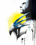 Comic Mixed Media Prints - Adamantium Print by Amber Keller
