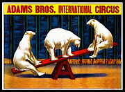 Saw Digital Art Framed Prints - Adams Bros. International Circus Framed Print by Bill Cannon