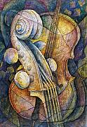 Musical Instruments Paintings - Adams Cello by Susanne Clark