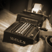 Sepia Posters - Adding Machine Poster by Mike McGlothlen