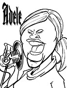 Adele Drawings - Adele by Big Mike Roate