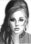 Adele Drawings - Adele by Crystal Rosene