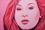 Adele Painting Metal Prints - Adele Metal Print by Derek Donnelly