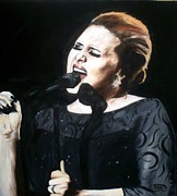 Adele Painting Metal Prints - Adele Metal Print by Gary Boyle