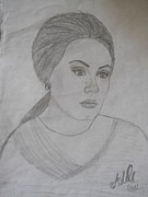 Adele Drawings - Adele by Isabela B