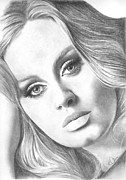 Adele Drawings - Adele by Karen  Townsend