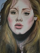 Adele Painting Metal Prints - Adele Metal Print by Matt Burke