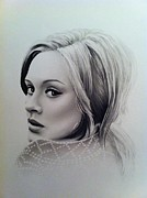 Adele Drawings - Adele by Tom Hansen