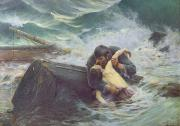 Embracing Framed Prints - Adieu Framed Print by Alfred Guillou