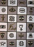 Featured Tapestries - Textiles Originals - Adinkra12 by Peter Otim Angole