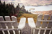 Park Scene Photos - Adirondack Chair On Mountain Top by Angela Auclair