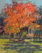 Paintout Prints - Adirondack Chairs Print by Donald Maier