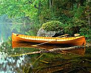 Adirondacks Prints - Adirondack Guideboat Print by Frank Houck