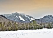 Slide Prints - Adirondack Mountains New York    HDR  Print by Brendan Reals