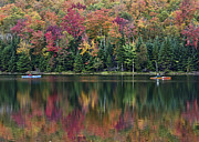 """adirondack Park""  Photo Posters - Adirondack Park Autumn - Heart Lake Poster by Brendan Reals"