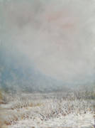 Winterscape Painting Originals - Adirondack wetlands by Robert James Hacunda