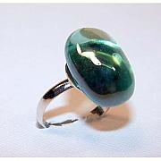 Handcrafted Jewelry - Adjustable Aqua Ring by Kelly DuPrat
