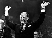 Raised Arms Posters - Adlai Stevenson, Accepts The Democratic Poster by Everett