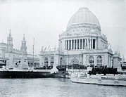Columbian Exposition Posters - Administration Building At The Worlds Poster by Everett