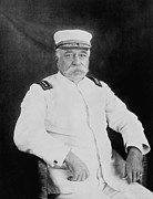 Navy Mixed Media Prints - Admiral George Dewey Print by War Is Hell Store