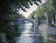 Berlin Painting Originals - Admiralsbrucke Bridge Kreuzberg-Berlin 2009 by Enver Larney