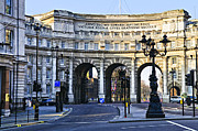 Pavement Tapestries Textiles - Admiralty Arch in Westminster London by Elena Elisseeva