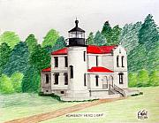 Famous Buildings Drawings Drawings - Admiralty head Light by Frederic Kohli