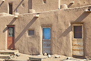 Pueblo De Taos Acrylic Prints - Adobe Buildings of Taos Acrylic Print by Bryan Mullennix