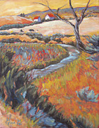Impressionistic Landscape Paintings - Adobe Confetti by Gina Grundemann