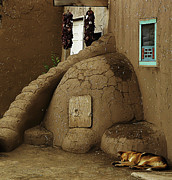 Pueblo Posters - Adobe Oven Poster by Angela Wright