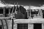 Adobe Architecture Posters - Adobe Walls of Acoma Pueblo Poster by George Oze