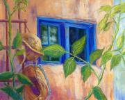 Adobe Pastels Prints - Adobe Windows Print by Candy Mayer