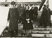 Hitler Photos - Adolf Hitler And His Mistress Eva by Everett
