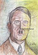 Nazi Painting Originals - Adolf Hitler by Northern Wolf