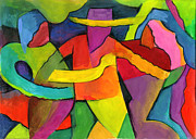 Abstract Expression Pastels - Adoracion by John Crespo Estrella