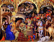 Virgin Mary Paintings - Adoration of the Kings by Gentile da Fabriano