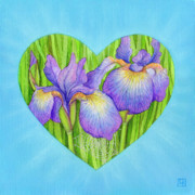 Purple Pastels Metal Prints - Adree Metal Print by Lisa Kretchman