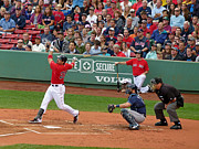 Red Sox Framed Prints - Adrian Gonzalez Framed Print by Juergen Roth