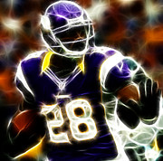 Peterson Posters - Adrian Peterson 02 - Football - fantasy Poster by Paul Ward
