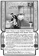 Early Sink Framed Prints - Ads: Bathroom, 1905 Framed Print by Granger