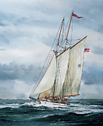 Sailing Vessel Posters - Adventuress Poster by James Williamson