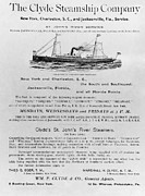 Jacksonville Prints - Advertisement: Steamship Print by Granger