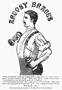 Weightlifter Prints - Advertisement: Suspenders Print by Granger