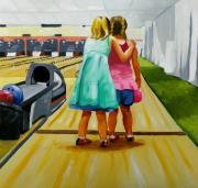 Bowling Alley Paintings - Advice  on Bowling by Rhondda Saunders