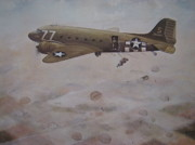 Plane Paintings - Aerial Free Delivery by Charles Roy Smith