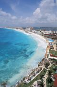 Sunbathe Framed Prints - Aerial Of Cancun Framed Print by Bill Bachmann - Printscapes