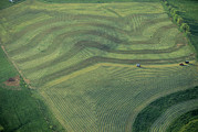 Farming Equipment Photos - Aerial Of Farmland In The Shenandoah by Kenneth Garrett