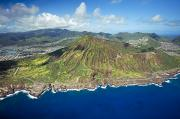 Ron Ron Framed Prints - Aerial of Koko Head and Crater Framed Print by Ron Dahlquist - Printscapes