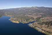 Aerials Prints - Aerial Of Lake Casitas At Full Capacity Print by Rich Reid